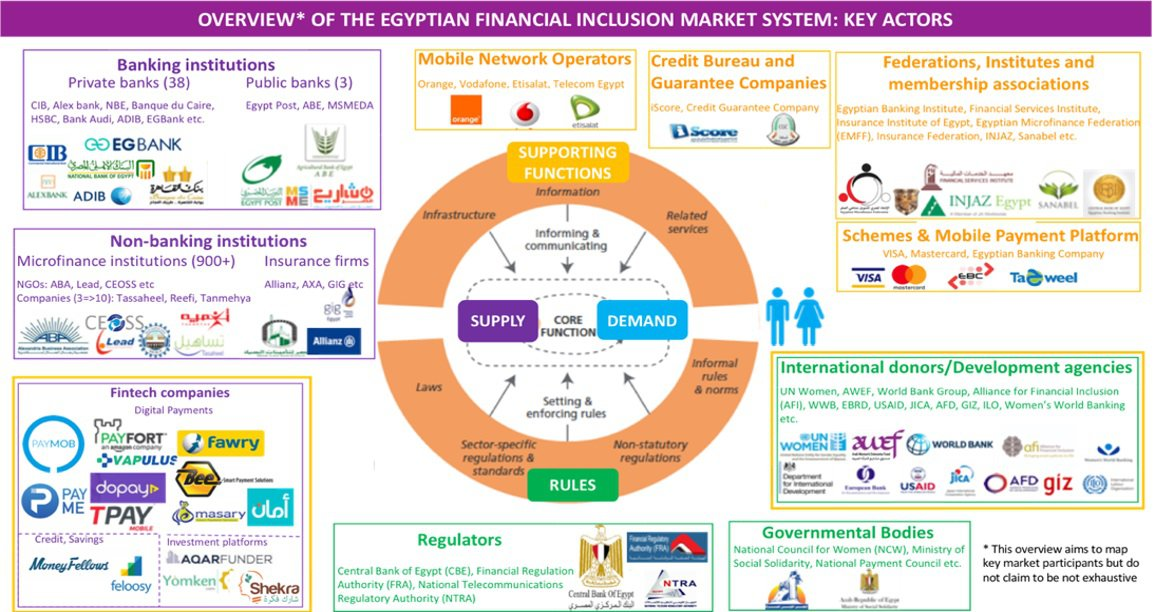 Overview of the Egyptian financial inclusion market system: key actors